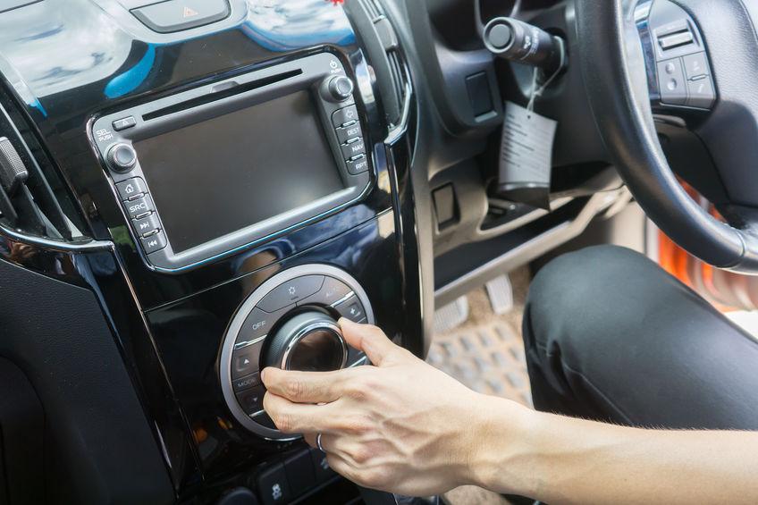 Immagine del sistema audio di un'auto