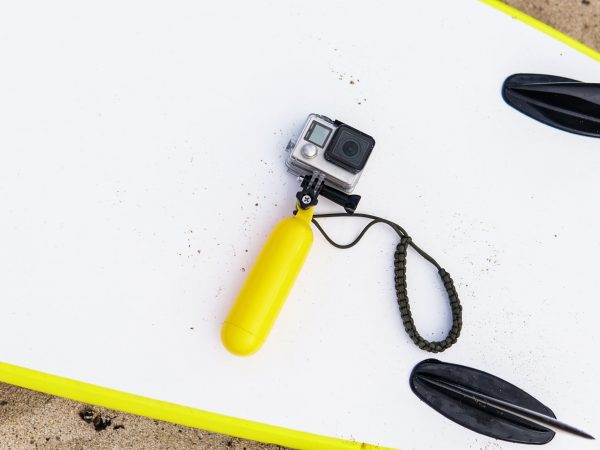 modern action camera for surfing close-up.