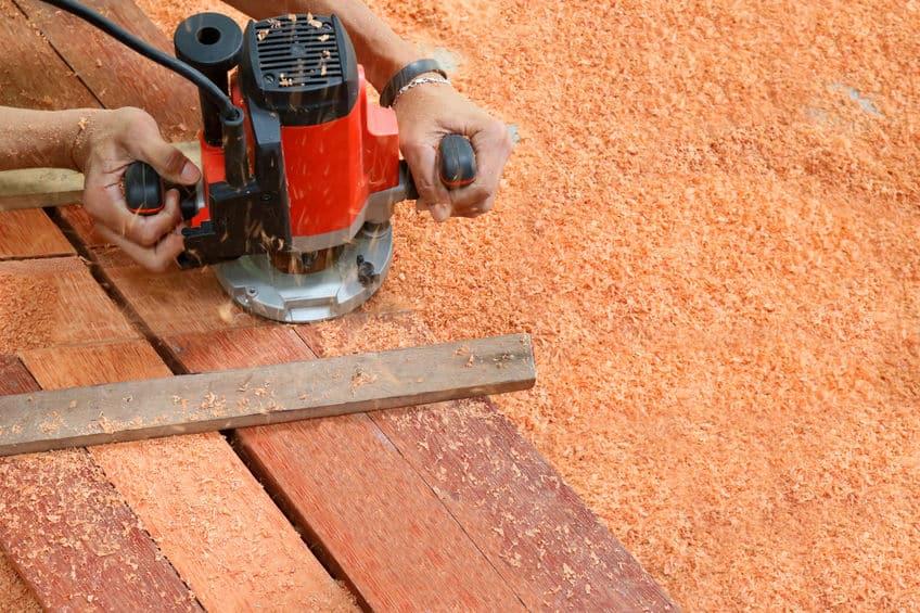 Fresatrice per legno arancione