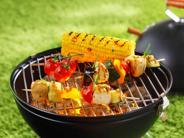 Verdure su un barbecue