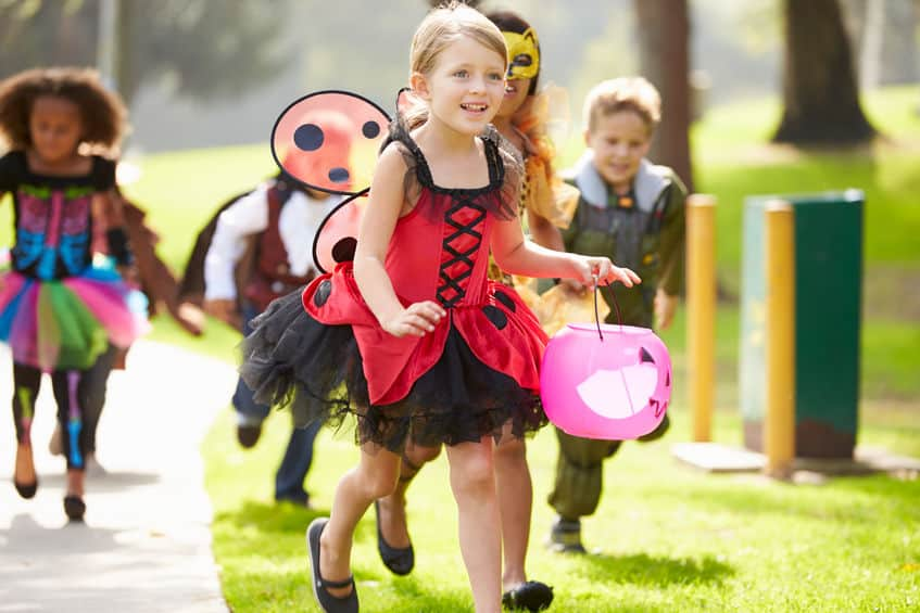 Bambini travestiti per halloween