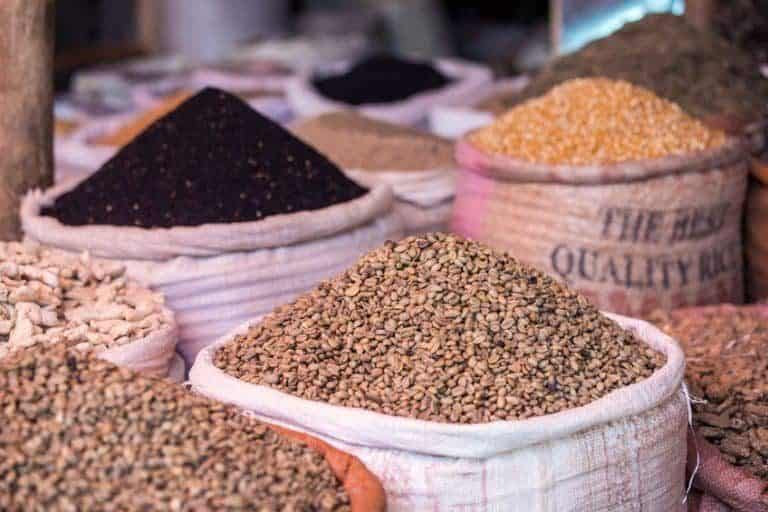Sacchi di semi e cereali