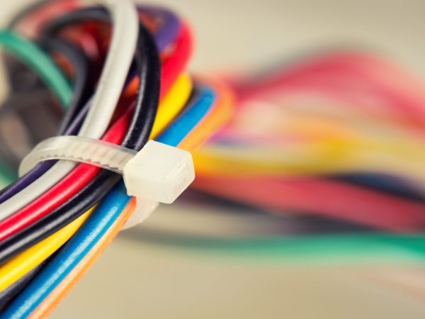 18289848 – closeup of colorful electrical cables