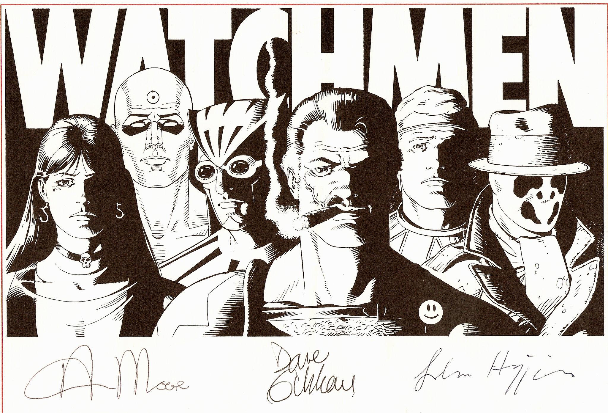 Copia firmata di un fumetto watchmen