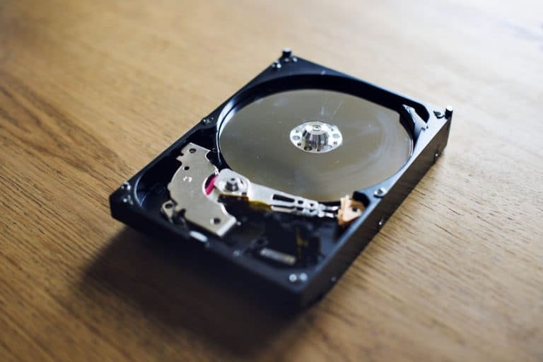 Hard disk in primo piano