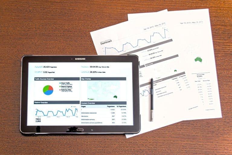 Un tablet Samsung in primo piano