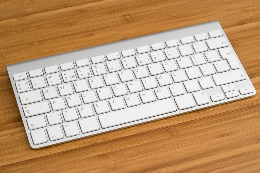 The keyboard on the table