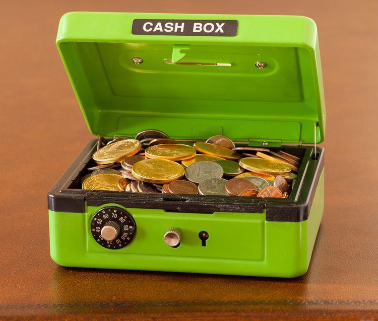 Cassetta di sicurezza per soldi