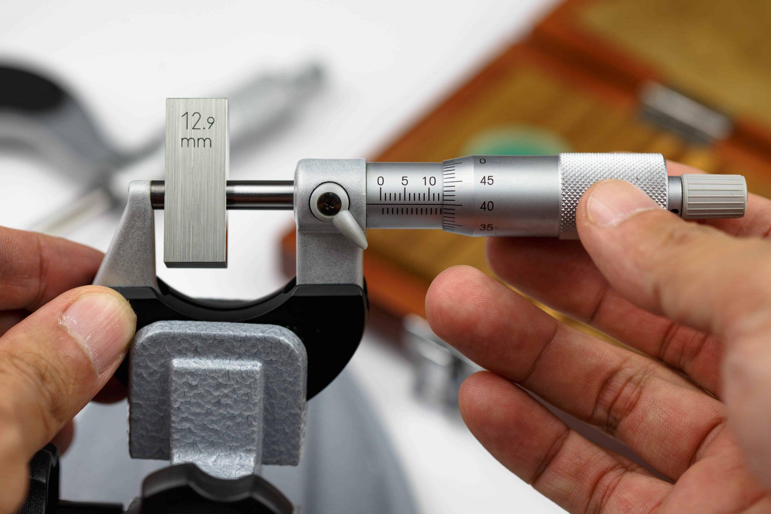 Un micrometro in dettaglio