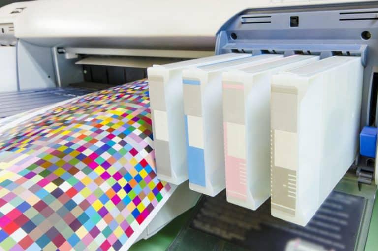 Particolare delle cartucce di una stampante