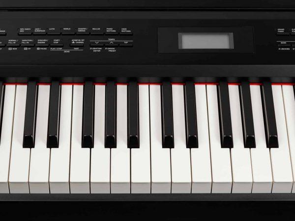 Primo piano di una tastiera elettronica