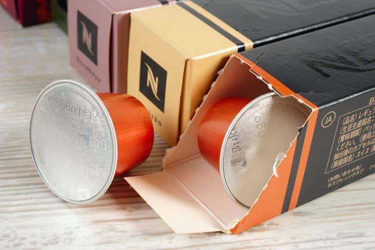 Primo piano su capsule Nespresso