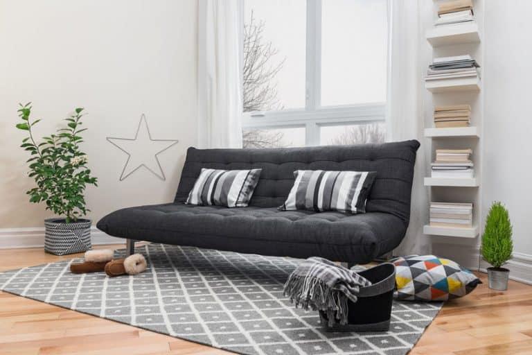 Divano letto nero moderno