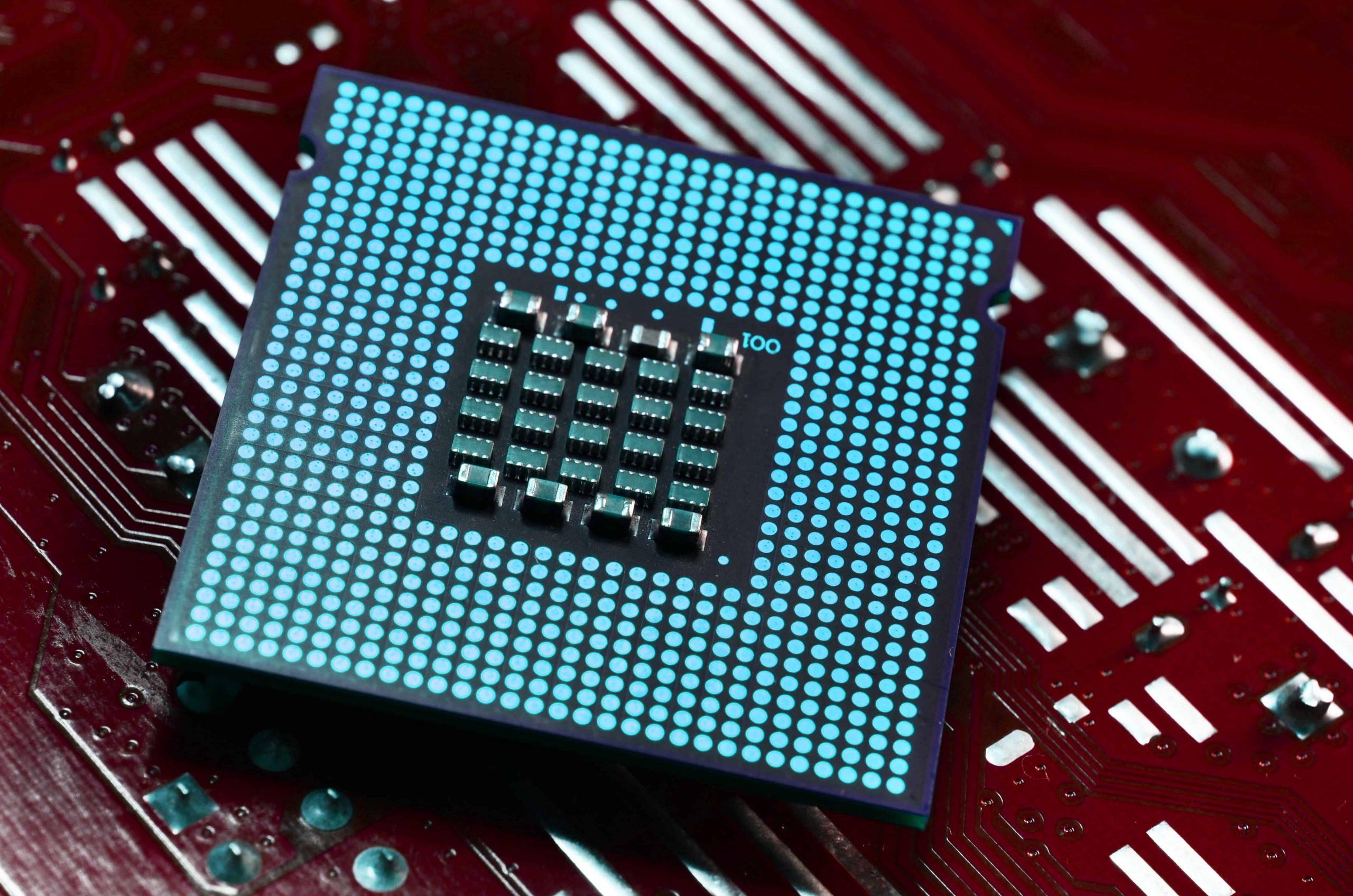 Un processore in primo piano