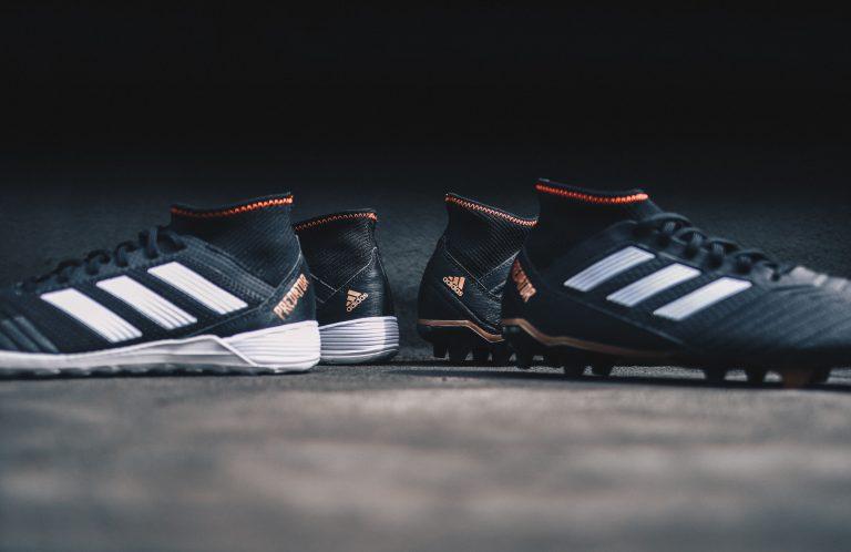 Primo piano su scarpe da calcio Adidas