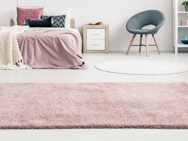 Grande tappeto rosa
