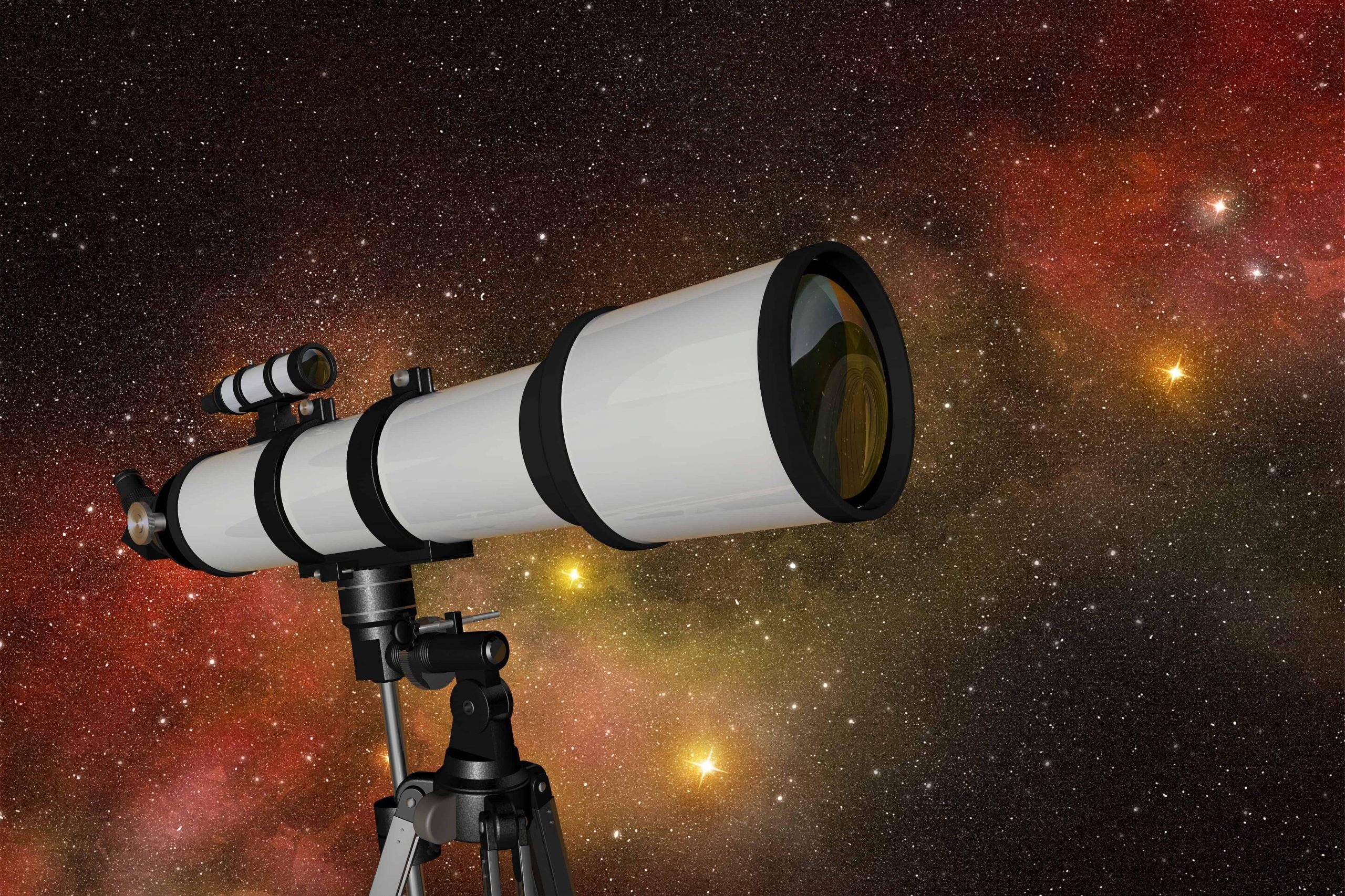 Un telescopio bianco
