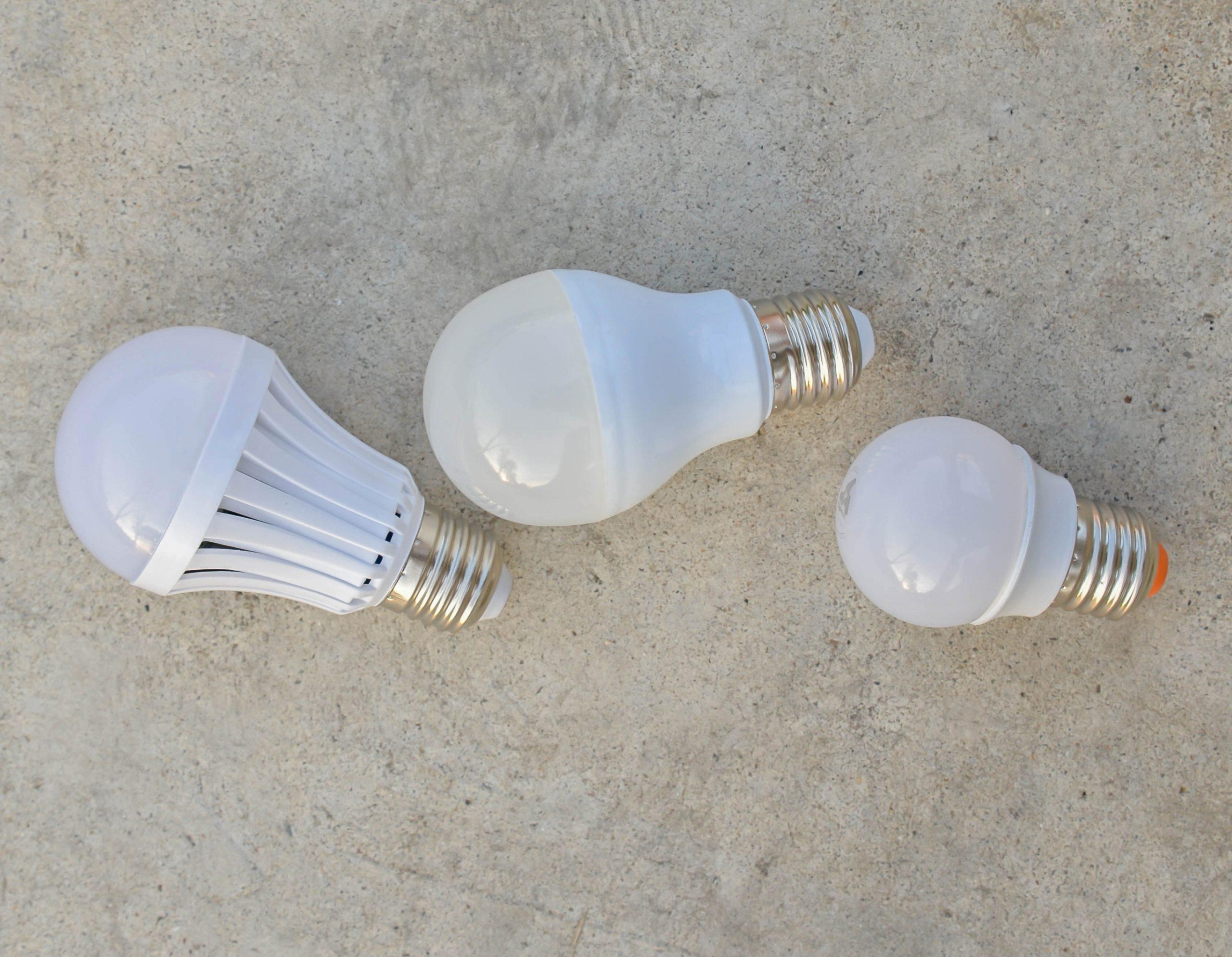 Tre lampadine