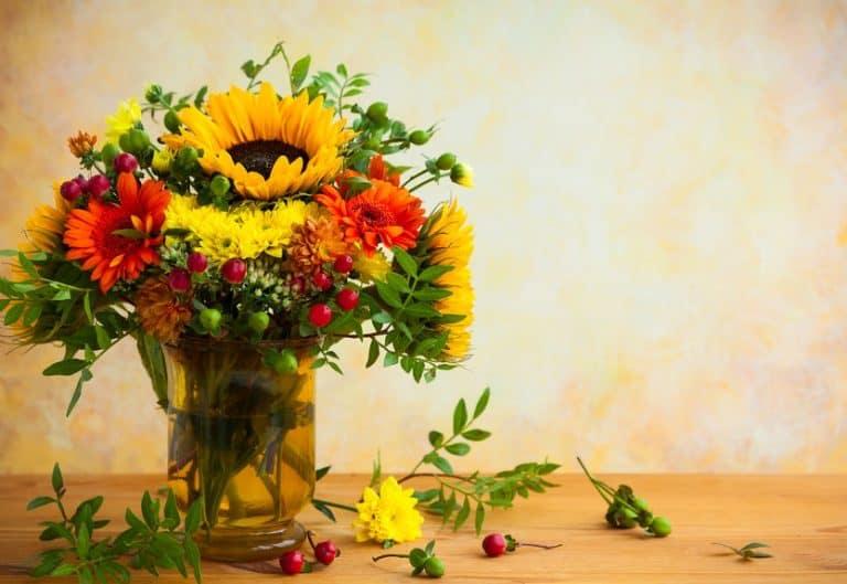 Vaso con dei bei fiori