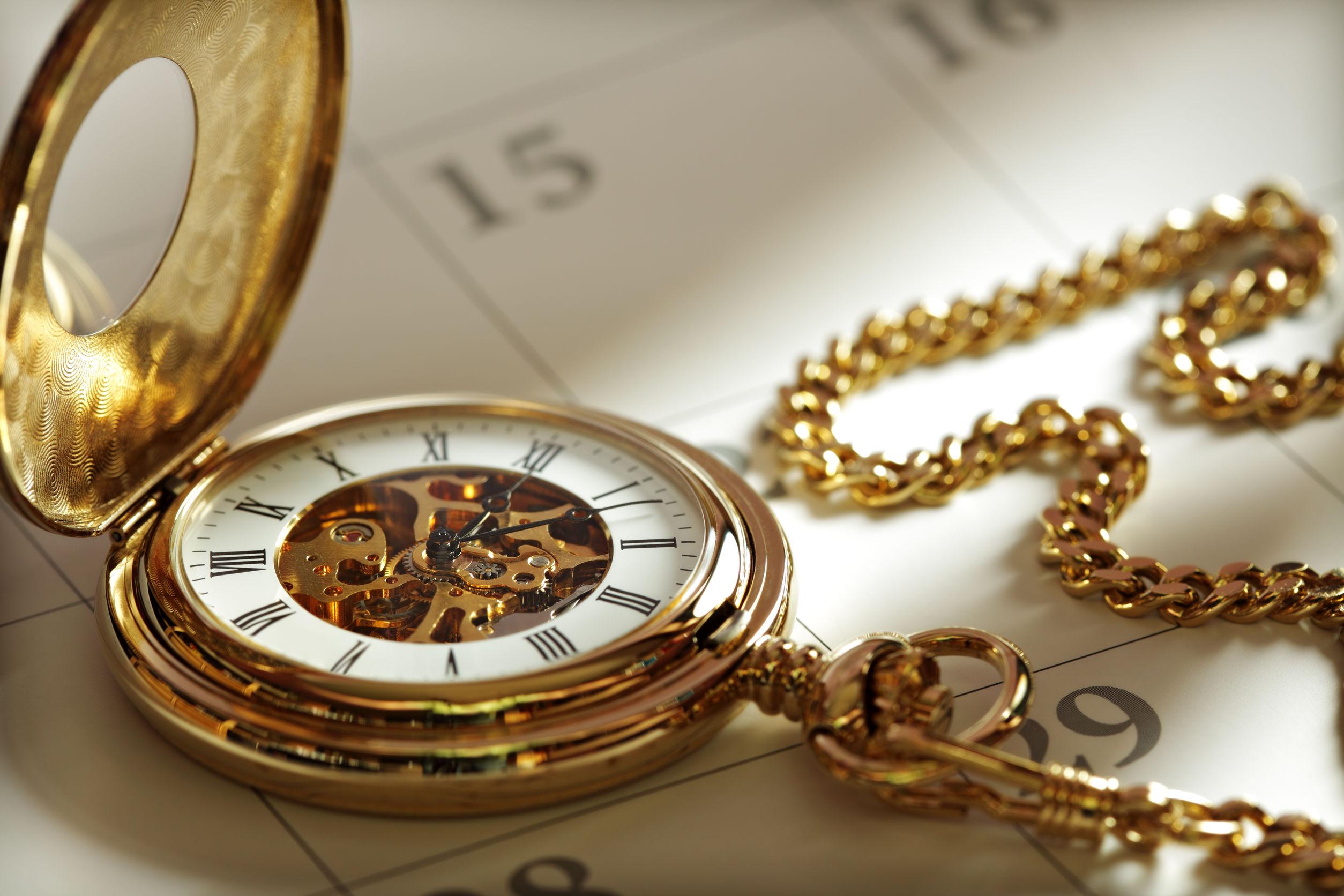 Orologio da taschino aperto