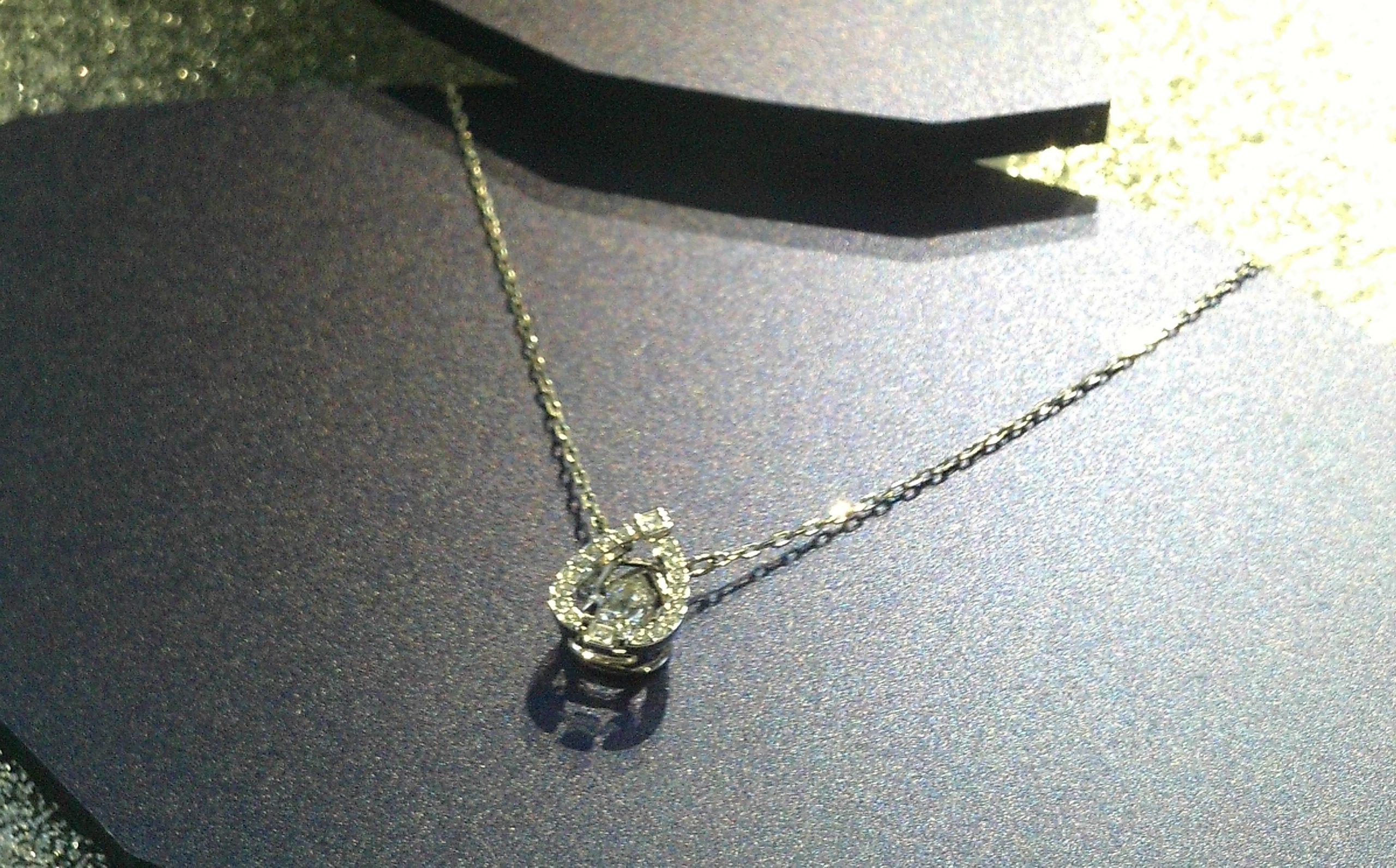 set orecchini collana con cuore in argento 925 Rodiato e cristallo dell/'Austria