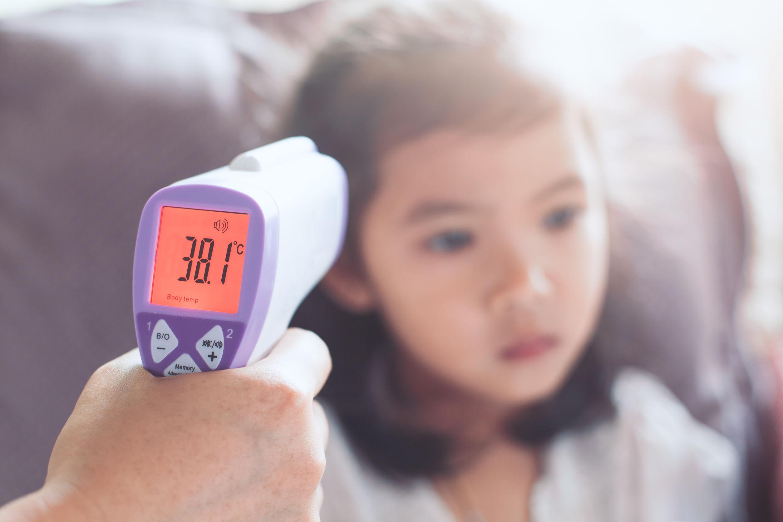 Un termometro digitale