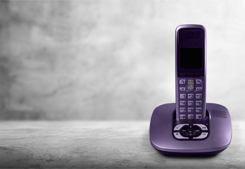 Telefono cordless viola