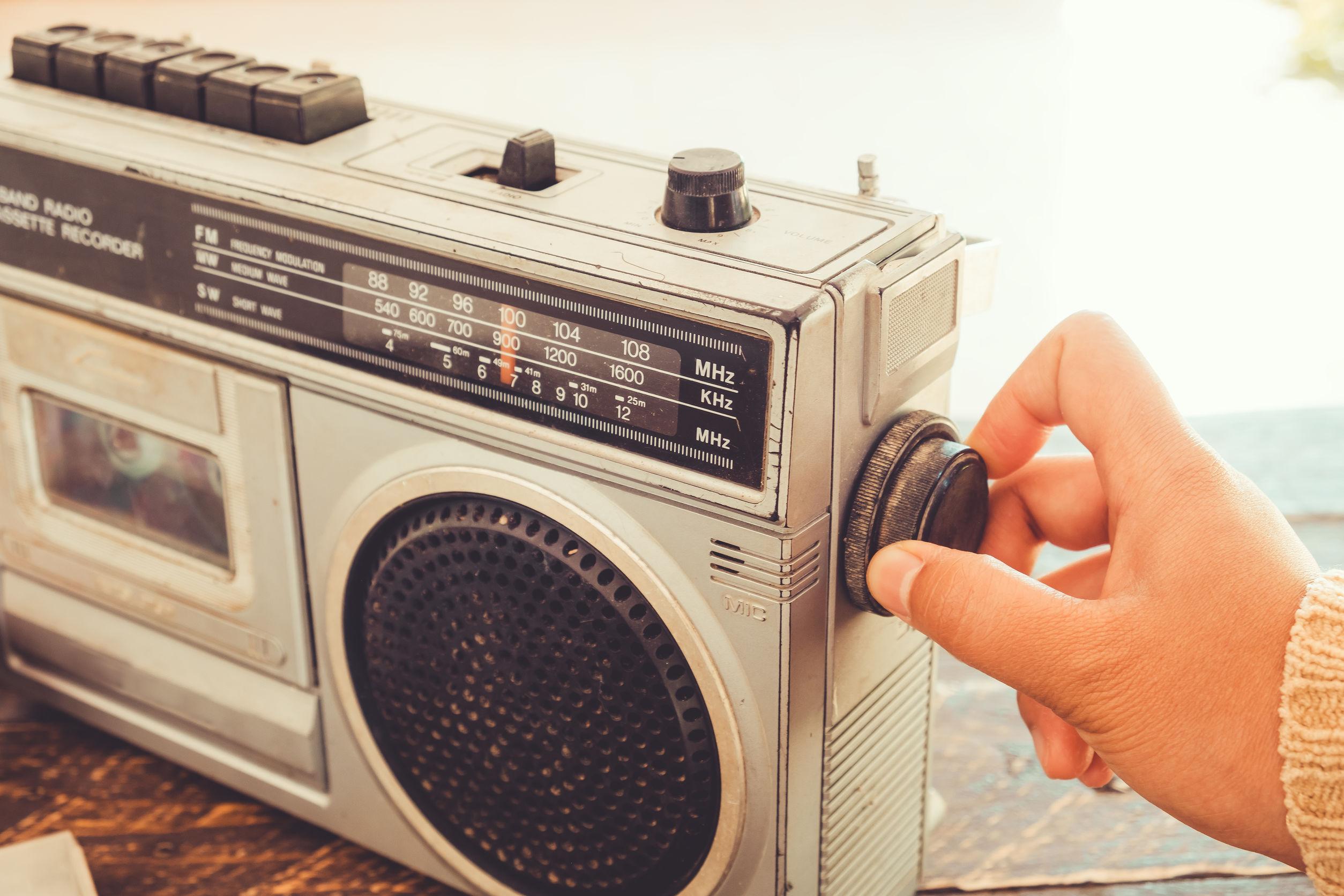 Una radio portatile vintage