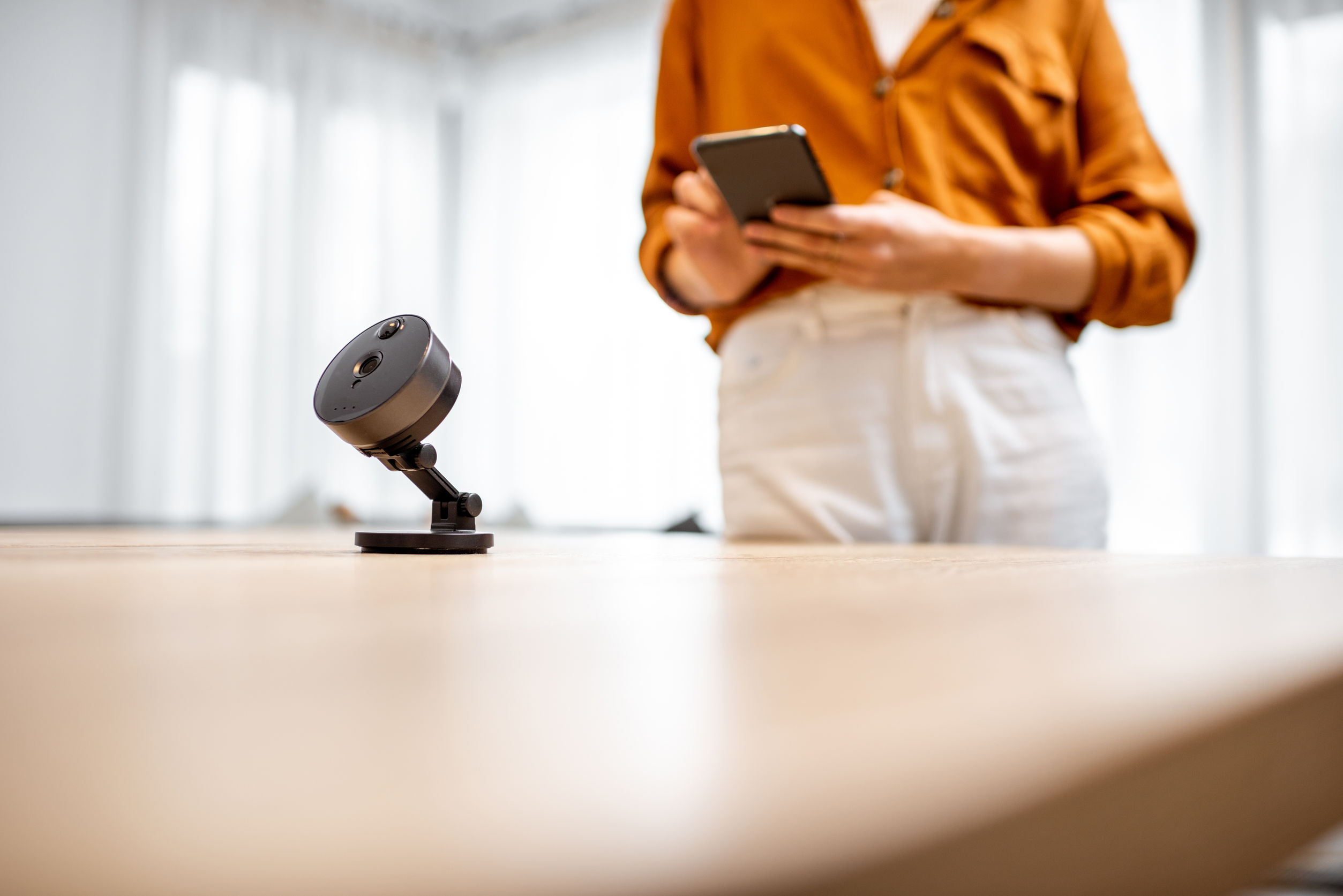 Una mini telecamera