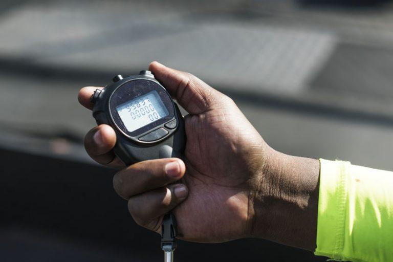 Un cronometro alla partenza