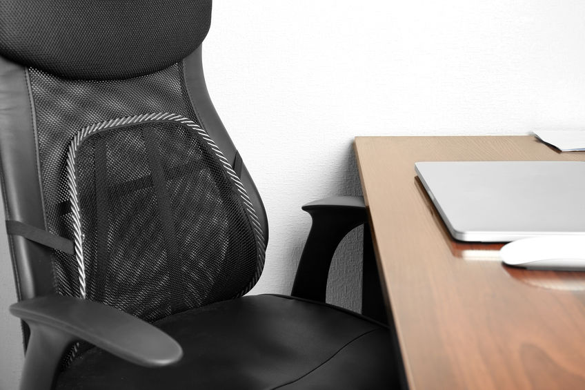 Sedia da ufficio con cuscino lombare