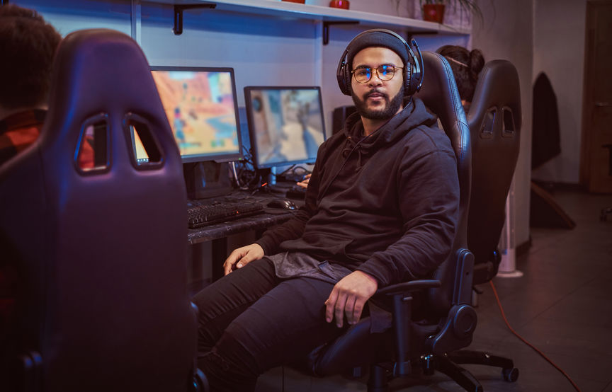 Giocatore in sala da gaming