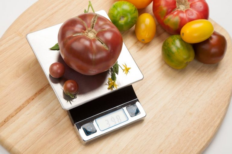 Pomodori su una bilancia