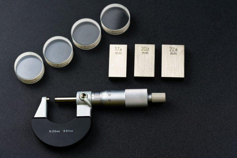 Piezas del micrómetro