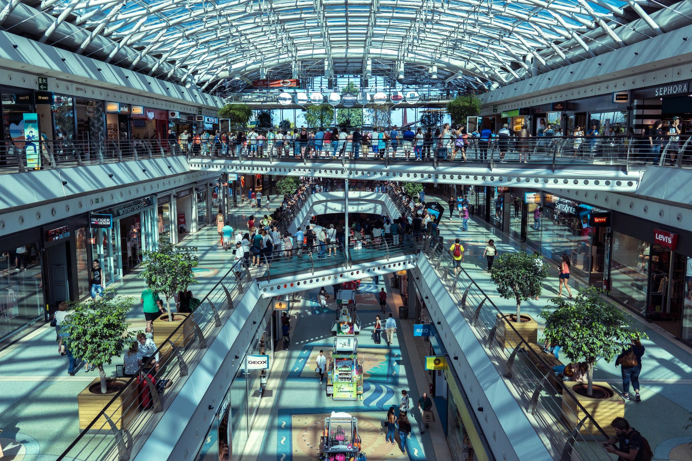 Vista de centro comercial