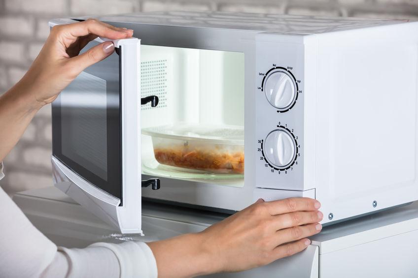 cocinando en microondas
