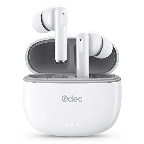 Cuffie Bluetooth, Bassi Migliorati, Controllo Touch, Auricolari Stereo In-ear con Indicatore di Batteria, IPX5, Cuffie con Microfono Incorporato, Portatili, Custodia di Ricarica Veloce USB-C