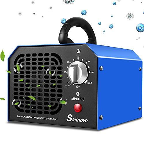 Generatore di ozono 6000mg / h Purificatore d'aria professionale di ozono con timer 180 minti adatto per abitazioni, uffici, ristoranti, caffetterie, hotel e garage purifica fino a 300㎡