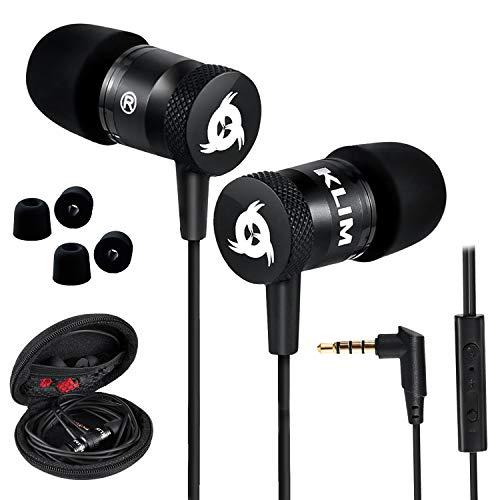KLIM Fusion Auricolari con Microfono + Audio di Alta qualità + Cuffie di Lunga Durata con Memory Foam + Garanzia 5 Anni - Jack 3.5 mm per iOS Android PC Console + Nuova Versione 2021 + Nero