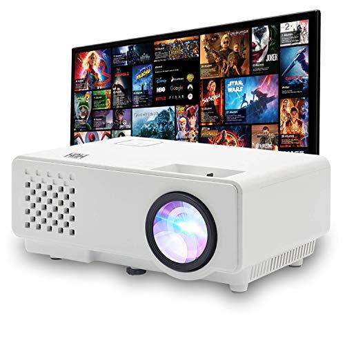 HUH Mini Videoproiettore Portatile WIFI 1000 Lumen Reali Full HD 1080P Compatibilità Dispositivi iOs e Android Display da 120
