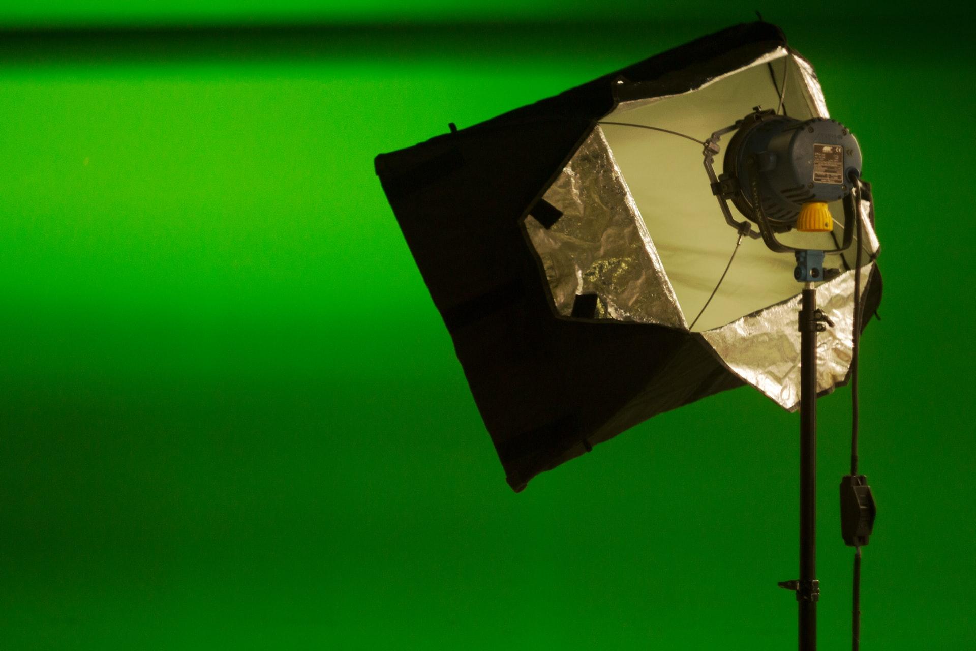 grabando con pantalla verde