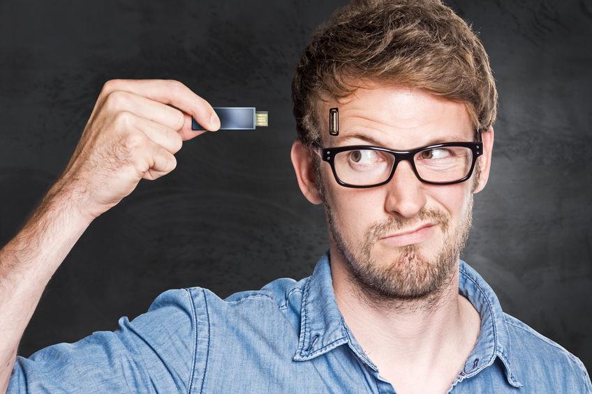 Memoria USB con hombre