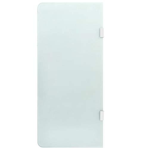 vidaXL Schermo Orinatoio a Parete per Privacy Toilette Moderno Elegante Pannello Divisorio Sanitari Bagno 90x40 cm in Vetro Temperato Grezzo