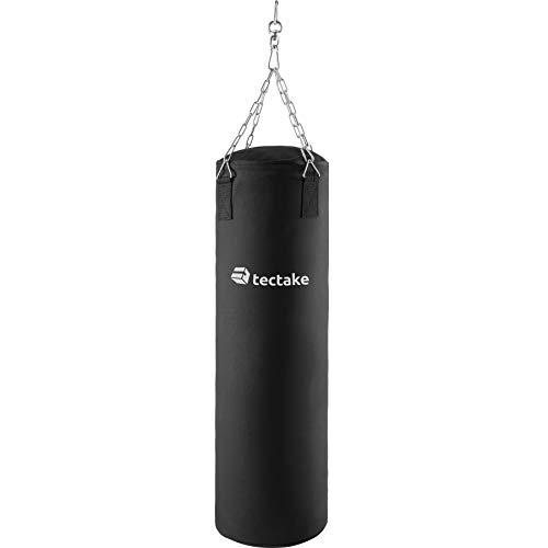 TecTake Sacco da Boxe Pieno 25kg con Sospensione a Catena | Robusto e Resistente | Altezza: 105cm
