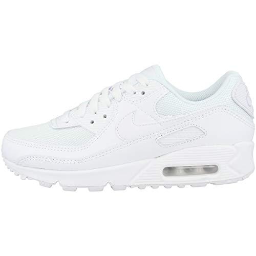 Nike Air Max 90 Women's Shoe, Scarpe da Corsa Donna, White/White-White-Wolf Grey, 37.5 EU