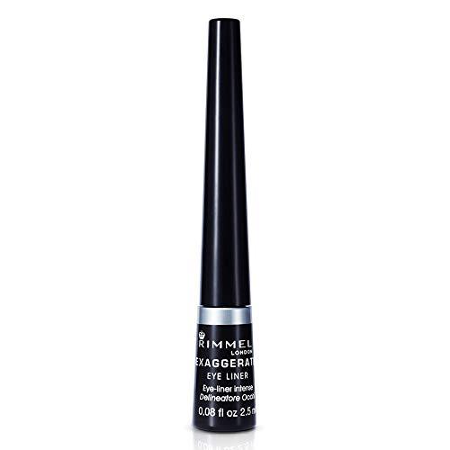Rimmel Exaggerate - Eyeliner liquido, Tonalità 001 Nero (Black), 2,5 ml