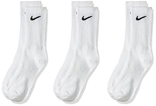 Nike Socks Everyday LTWT, Calzini Uomo, Bianco (White/Black), 42-46 (Taglia produttore: L), Confezione da 3
