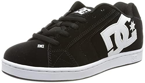 DC Shoes - Zapatillas de deporte de cuero nobuck para hombre, Negro, 39