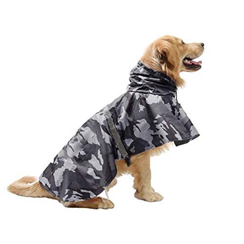 KoKoBin Cappottino Catarifrangente per Cani con Cappuccio Ultraleggero Traspirante Impermeabile per Cani di Media e Grande Taglia(Grigio, XL)