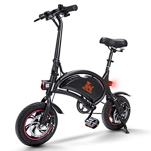 Bicicletta Elettrica Pieghevole, 36V 10Ah Batteria 40-60 Km di Autonomia, Velocità Massima 25 km/h, 12 Pollici Bici Elettrica con Pedalata Assistita, Unisex Adulto - B1 Pro